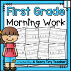 First Grade Morning Work 1