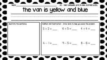 Daily Language Arts and Math Morning Work - MAY