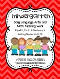 Daily Language Arts and Math Morning Work ~ Read It, Fix I