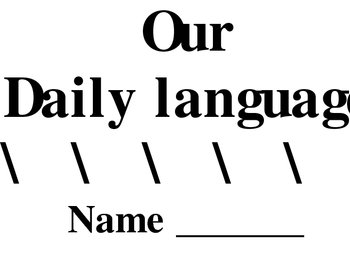Daily Language Booklet