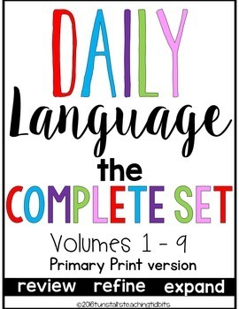 Daily Language Primary Print Bundle