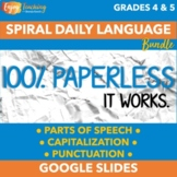 Paperless Morning Work - Digital Daily Language Curriculum for Google Drive