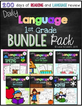 Daily Language First Grade Bundle Pack