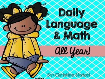 Daily Language & Math All Year! {Bundled}