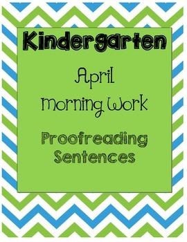Daily Language Morning Work Kindergarten - April