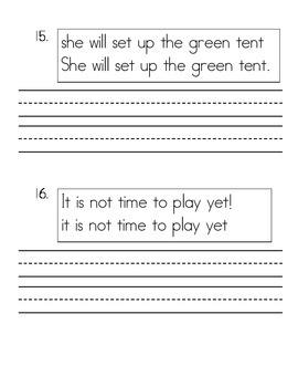 Daily Language Morning Work Kindergarten - February