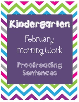 Daily Language Morning Work Kindergarten - February