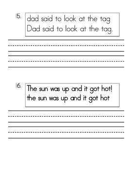 Daily Language Morning Work Kindergarten - January