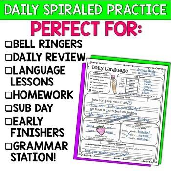 Daily Language Practice BUNDLE Grammar Review