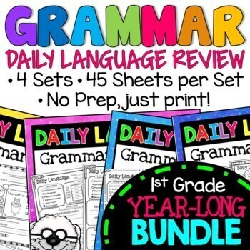 Daily Language Practice BUNDLE Grammar Spiral Review