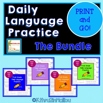 Daily Language Practice BUNDLE!!! PRINT AND GO! CCSS- Morn