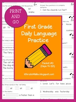 Daily Language Practice-Common Core Aligned-Morning Work-Packet 3-Bell Ringer