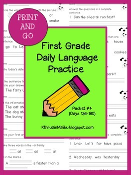 Daily Language Practice-Common Core Aligned-Morning Work-P