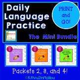 Daily Language Practice  MINI BUNDLE! PRINT & GO! CCSS Morning Work-Bell Ringer!