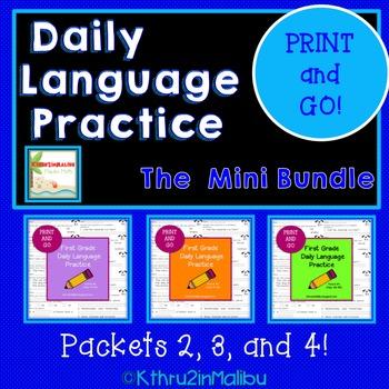 Daily Language Practice  MINI BUNDLE! PRINT & GO! CCSS Mor