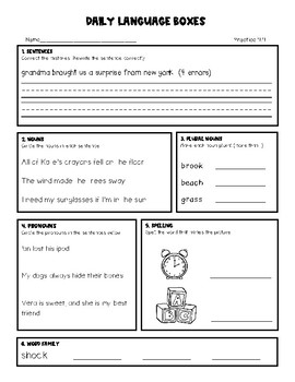 Daily Language Practice Set 1