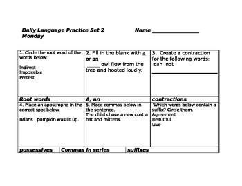 Daily Language Practice Third Grade ( set 2 )