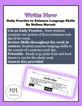 "Daily Language Practice ""Write Now"" Week 3"