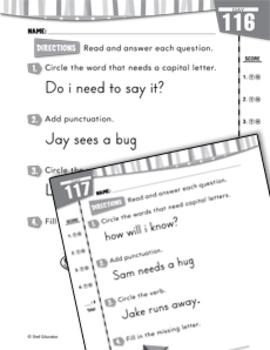 Daily Language Practice for Kindergarten