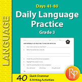 Daily Language Practice for Third Grade: Days 41-80