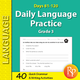 Daily Language Practice for Third Grade: Days 81-120