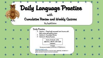 Daily Language Practice with Cumulative Review and Quizzes