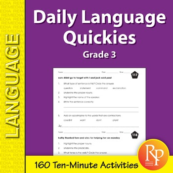 Daily language review grade 3 teaching resources teachers pay teachers daily language quickies grade 3 fandeluxe Gallery