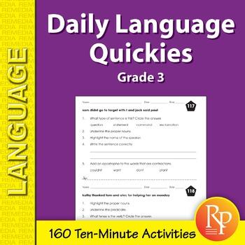 Daily Language Quickies (Grade 3)