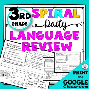 3rd Grade Daily Language Review Warm-Up and Homework