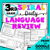 3rd Grade Daily Language Review Warm-Up and Homework - Distance Learning