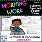 Morning Work - Third Grade