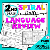 Daily Language Spiral Review Morning Work | Homework - 2nd Grade