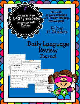 Daily Language Review 35 weeks Journal Work 105 pages