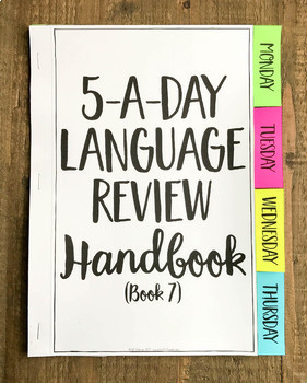 7th Grade Daily Language Review Morning Work Spiral Review Editable