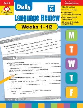 Daily Language Review Bundle, Grade 6, Weeks 1–12
