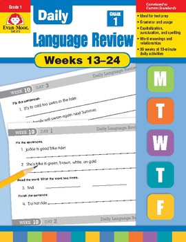 Daily Language Review Bundle, Grade 1, Weeks 13–24