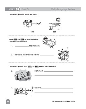 Daily Language Review Bundle, Grade 1, Weeks 25–36