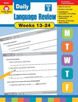 Daily Language Review Bundle, Grade 3, Weeks 13–24