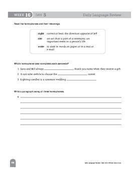 Daily Language Review Bundle, Grade 5, Weeks 13–24