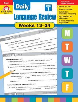 Daily Language Review Bundle, Grade 7, Weeks 13–24