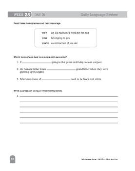 Daily Language Review Bundle, Grade 8, Weeks 25-36