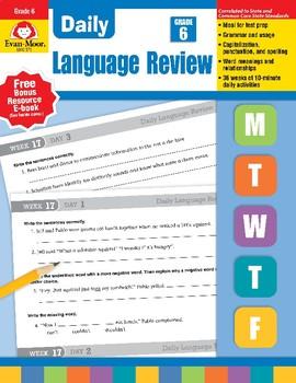 Daily Language Review, Grade 6 - Teacher's Edition, E-book
