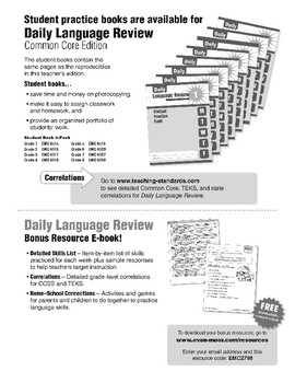 Daily Language Review, Grade 8 - Teacher's Edition, E-book