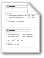 Daily Language Review, Grade 1: Week 13