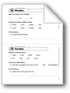 Daily Language Review, Grade 1: Week 25