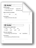 Daily Language Review, Grade 1: Week 36