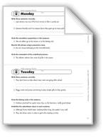 Daily Language Review, Grade 7: Week 9