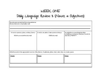 Daily Language Review Morning Work (Semester 1- GREAT IREAD PREP!)