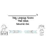 Daily Language Review Morning Work (Semester 1- GREAT IREA