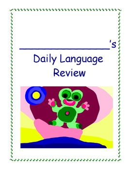 Daily Language Review Notebook Folder Cover/Sticker